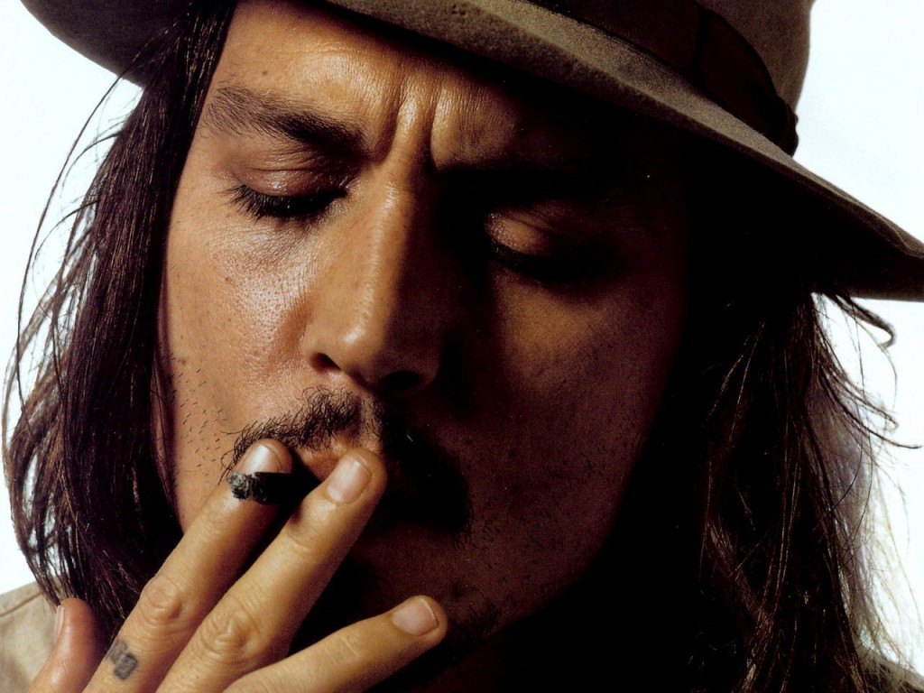 Johnny depp smoking wallpaper