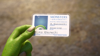 Pixar Post - Monsters University ID Card